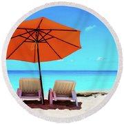 Baie Rouge  Round Beach Towel