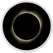 Bailys Beads - 2017 Total Solar Eclipse Round Beach Towel