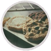 Baked Cookies Round Beach Towel