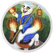 Bakeneko Nekomata - Japanese Monster Cat Round Beach Towel