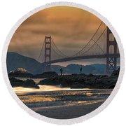 Baker Beach Golden Gate Round Beach Towel