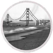 Baker Beach In Sf Round Beach Towel