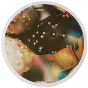 Bakers Cupcake Delight Round Beach Towel