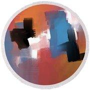 Round Beach Towel featuring the mixed media Balancing Act by Eduardo Tavares
