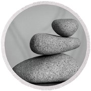 Balancing Act Round Beach Towel