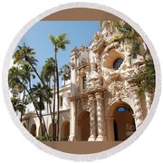 Round Beach Towel featuring the photograph Balboa Park Architecture Beauty by Jasna Gopic