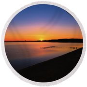 Balcony Sunrise Round Beach Towel