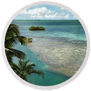 Balcony View Round Beach Towel