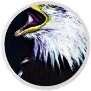 Bald Eagle - Francis -audubon Round Beach Towel
