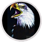 Bald Eagle - Francis -audubon Round Beach Towel