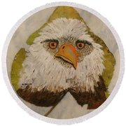 Bald Eagle Front View Round Beach Towel by Ralph Root