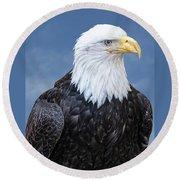 Bald Eagle Round Beach Towel