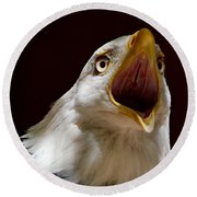Bald Eagle - The Great Call Round Beach Towel