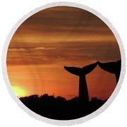 Baleines Terrestres Des Montagnes Vertes - Two Round Beach Towel