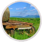 Bales At Rest Round Beach Towel