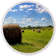 Bales Of Clouds Round Beach Towel