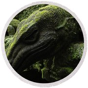Bali Indonesia Lizard Sculpture Round Beach Towel
