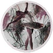 Ballerina Dance Painting 0032 Round Beach Towel by Gull G