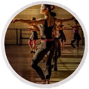 Round Beach Towel featuring the photograph Ballerina by Lou Novick