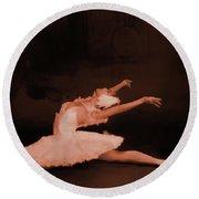Ballet Dancer In White 01 Round Beach Towel by Gull G