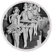 Ballet Dancers On Steps Round Beach Towel