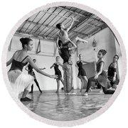 Ballet Practice - Havana Round Beach Towel