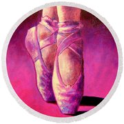 Ballet Shoes  II Round Beach Towel