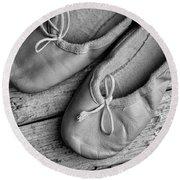 Ballet Shoes Round Beach Towel