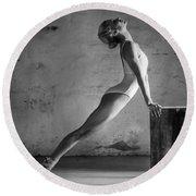 Ballet Stretch Round Beach Towel