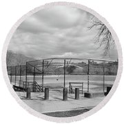 Ballfields Round Beach Towel