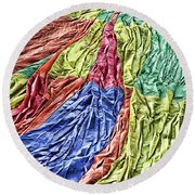 Balloon Abstract 1 Round Beach Towel