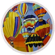 Balloon Expedition Round Beach Towel