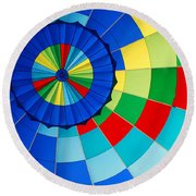 Balloon Fantasy 8 Round Beach Towel by Allen Beatty