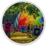 Balloon Fest Spirit Round Beach Towel