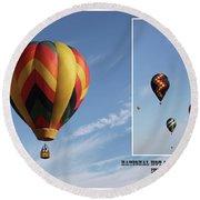 Balloon Festival Indianola, Iowa Round Beach Towel