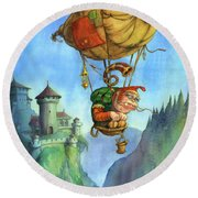 Balloon Ogre Round Beach Towel