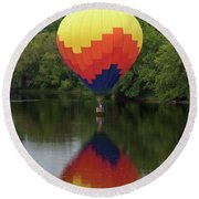 Balloon Reflections Round Beach Towel