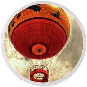 Balloon Ride Walt Disney World Fl Pm Round Beach Towel