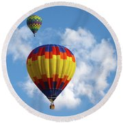 Balloons In The Cloud Round Beach Towel
