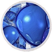 Round Beach Towel featuring the digital art Balloons by Ron Bissett
