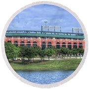 Ballpark In Arlington Now Globe Life Park Round Beach Towel