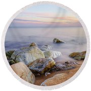 Round Beach Towel featuring the photograph Baltic Zen by Dmytro Korol