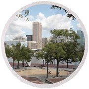 Baltimore Inner Harbor Play Area Round Beach Towel