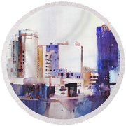 Baltimore Plaza Round Beach Towel