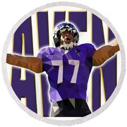 Baltimore Ravens Round Beach Towel by Stephen Younts