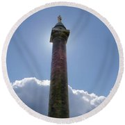 Round Beach Towel featuring the photograph Baltimore's Washington Monument by Brian Wallace