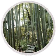 Bamboo Forest Round Beach Towel