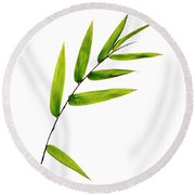 Bamboo Leaves Round Beach Towel
