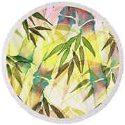 Bamboo Sunrise Round Beach Towel