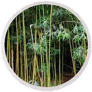 Bamboo Wind Chimes  Waimoku Falls Trail  Hana  Maui Hawaii Round Beach Towel